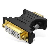 Adaptador Conversor DVI Fêmea para VGA Macho - Preto - Vention