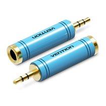 Adaptador Conversor de Áudio Jack 6.5mm Stéreo Fêmea para Jack 3.5mm Macho - Azul - Vention