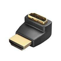 Adaptador HDMI Macho para HDMI Fêmea com ângulo 90º - Preto - Vention