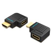 Adaptador HDMI Macho para HDMI Fêmea com ângulo de 90º - Vention