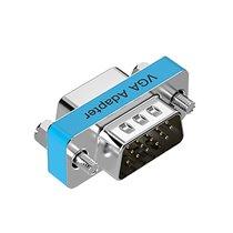 Adaptador VGA Macho para VGA Fêmea - Prateado Metalizado - Vention