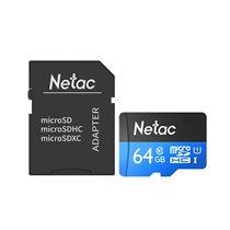 Cartão Micro SD P500 Netac, de 64GB, com Adaptador