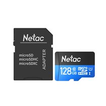 Cartão Micro SD P500 Netac, de 128GB, com Adaptador