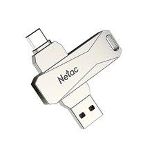 Pen Drive USB 3.0 + USB Tipo-C U782C Netac, de 32 a 128GB