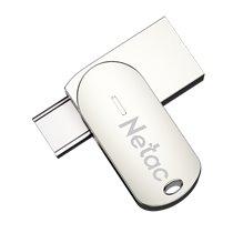 Pen Drive USB 3.0 + USB Tipo-C U785C Netac, de 32 e 128GB