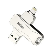 Pen Drive USB 3.0 + Lighting iOS iPhone Netac, de 32 a 128GB