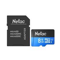 Cartão Micro SD P500 Netac, de 8GB, com Adaptador
