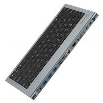 Docking Station 11 em 1 com Teclado, HDMI, VGA, USB, RJ45 e Jack 3.5mm - QgeeM