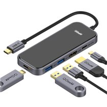 Docking Station Tipo-C 5 em 1 Para Tipo-C, USB, HDMI e Porta de Carregamento PD - QgeeM