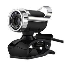 Webcam com Microfone e Câmera HD - 360º e Clipe de Suporte - USB 2.0 - Goeik