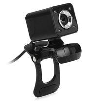 Webcam HD com Microfone para Computador com 4 LED  - USB 2.0 - Goeik