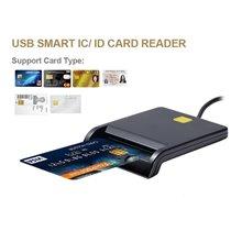 Leitor de Cartões com Chip USB - Preto - Goeik