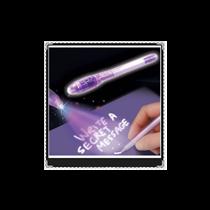 Caneta de Tinta Invisível, tinta visível apenas com Luz Ultravioleta - Goeik