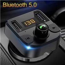 Transmissor FM Wireless para o Carro com uma entrada TF e duas USB para Reprodução de Música ou Carregamento Rápido - Goeik