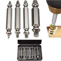 Kit de Ferramentas, com 4 Brocas Extratoras de Parafusos Danificados ou Moídos - Goeik