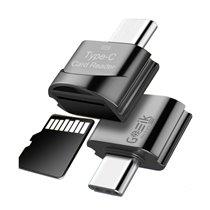 Leitor de Cartões de Memória Micro SD (TF) para Telemóveis e Computadores com Porta USB 3.0 Tipo-C - Goeik