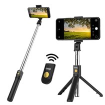 Selfie Stick Bluetooth para iPhone e Android com Vara Dobrável Expansível e Controlo Remoto - Goeik